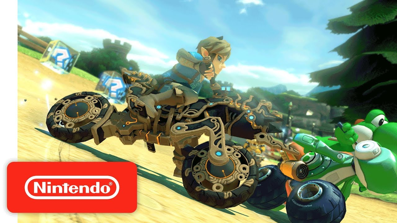Link 39 s breath of the wild 39 mad max 39 style motorcycle shows up in mario kart 8 deluxe nerdbot - How do you get the master cycle zero ...