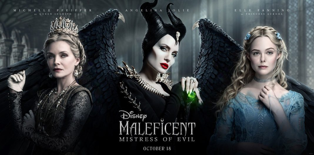 Maleficent: Mistress of Evil with Michelle Pfeiffer, Angelina Jolie, and Elle Fanning