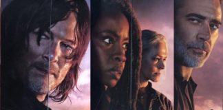 Norman Reedus (Daryl), Danai Gurira (Michonne), Melissa McBride (Carol), and Jeffrey Dean Morgan (Negan)
