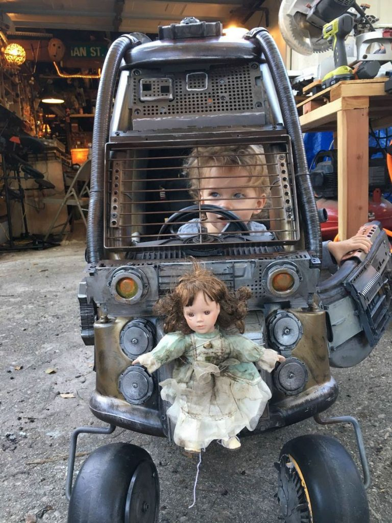 I wouldn't want to mess with this Furiosa Junior, while she is sitting in her death car.