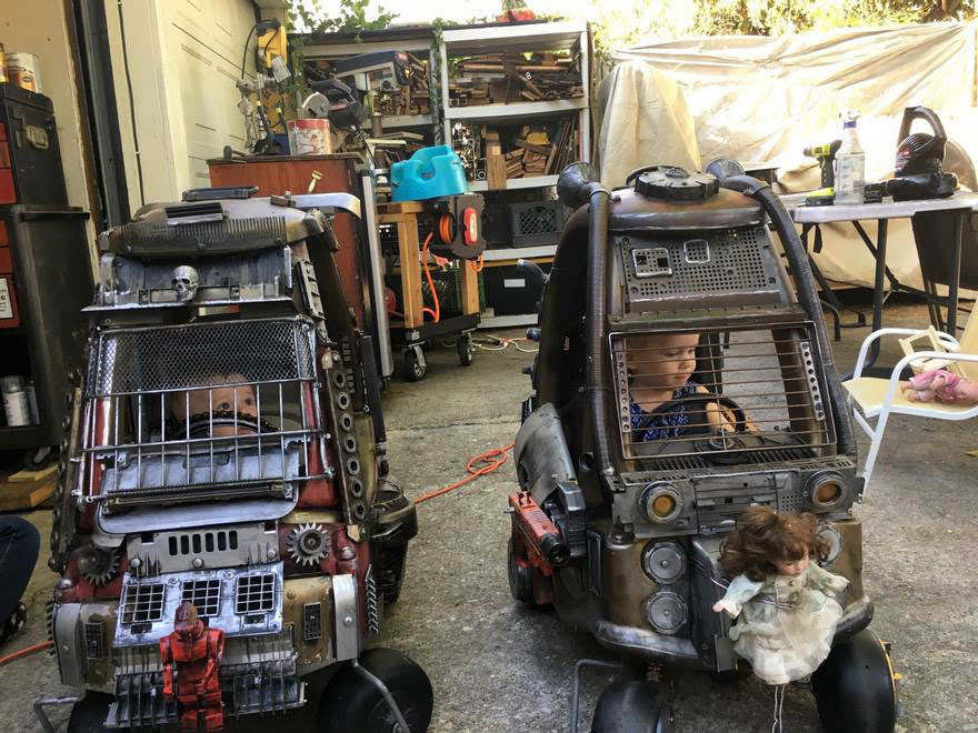 Each kid's Mad Max Little Tykes Car is unique.  Can you spot the differences?