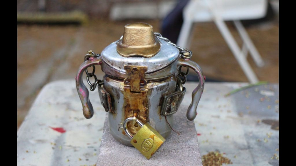 In the desert, nothing is more precious than water!  Be sure to bring your Steampunk Sippy Cup.