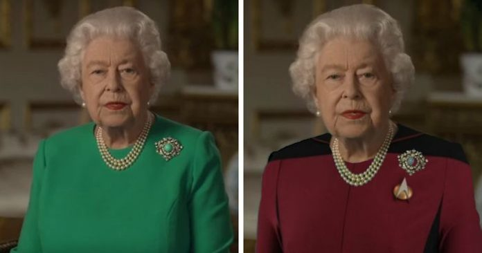Queen Elizabeth Wore Green Screen Color On Tv And The Internet