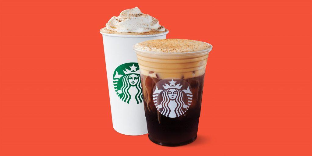 Starbuck's Pumpkin Spice drinks