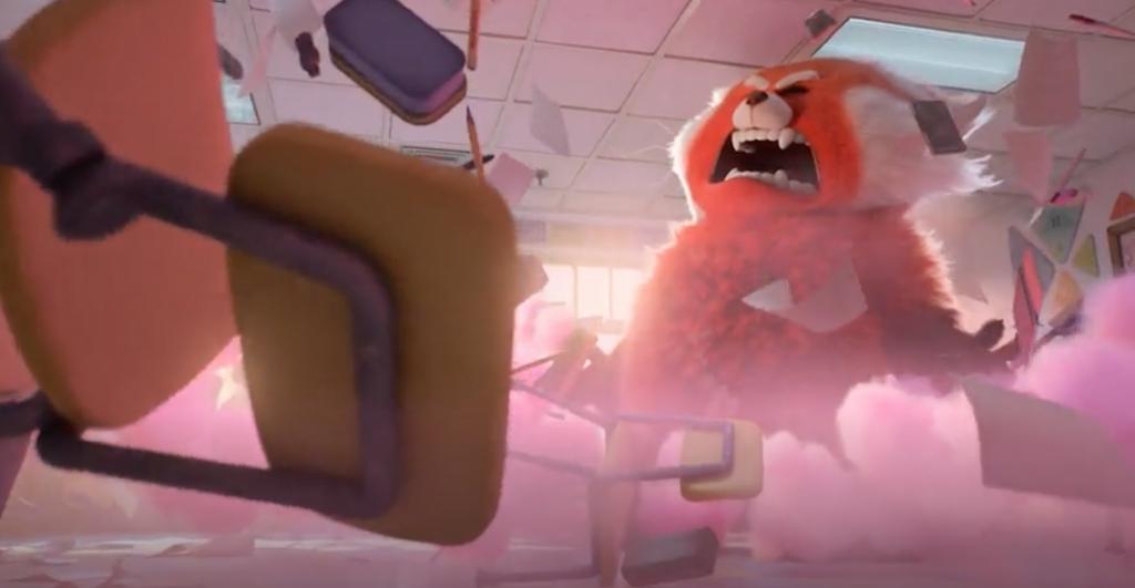 Pixar's Turning Red trailer scene.