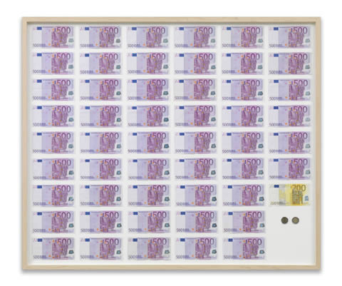 Art piece by Jens Haaning depicting average Austrian yearly income in 2007.